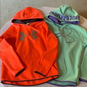 Under warmer Storm1 Hoodies Size Youth Large Girls